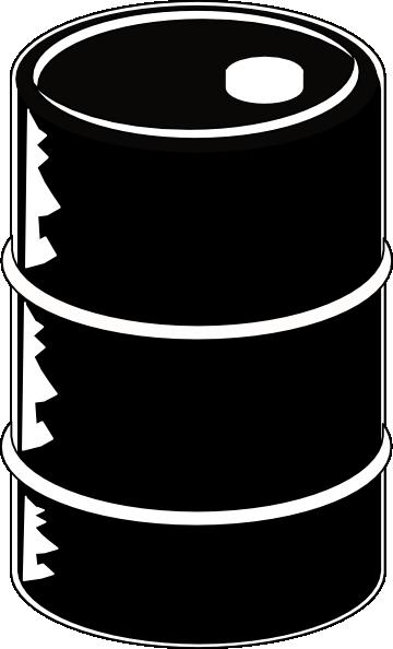 Oil Barrel Black clip art.