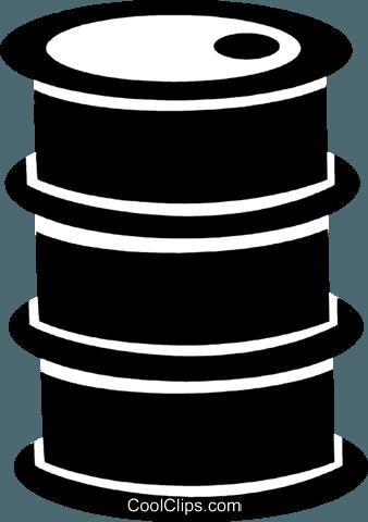 oil barrel Royalty Free Vector Clip Art illustration.