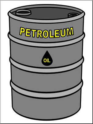 Clip Art: Oil Barrel Color I abcteach.com.