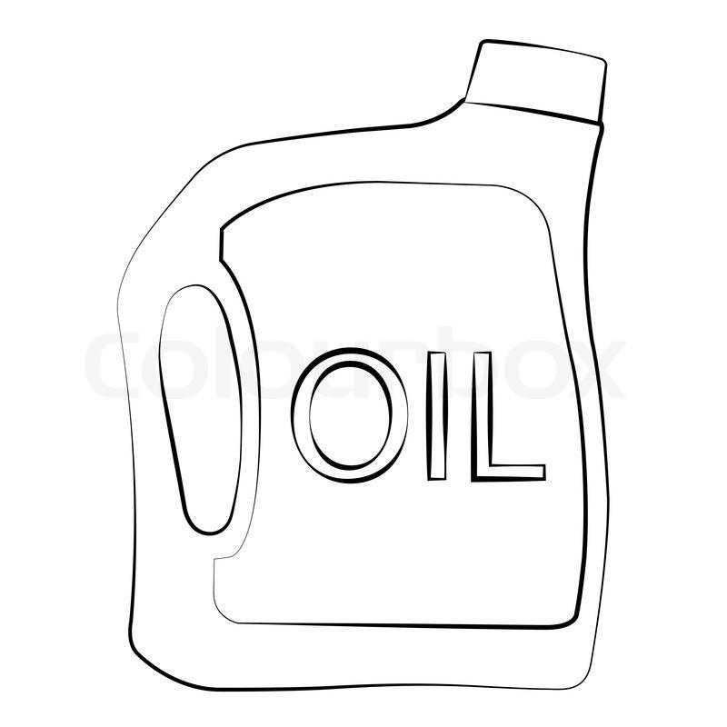 Oil Bottle Clipart Black And White.