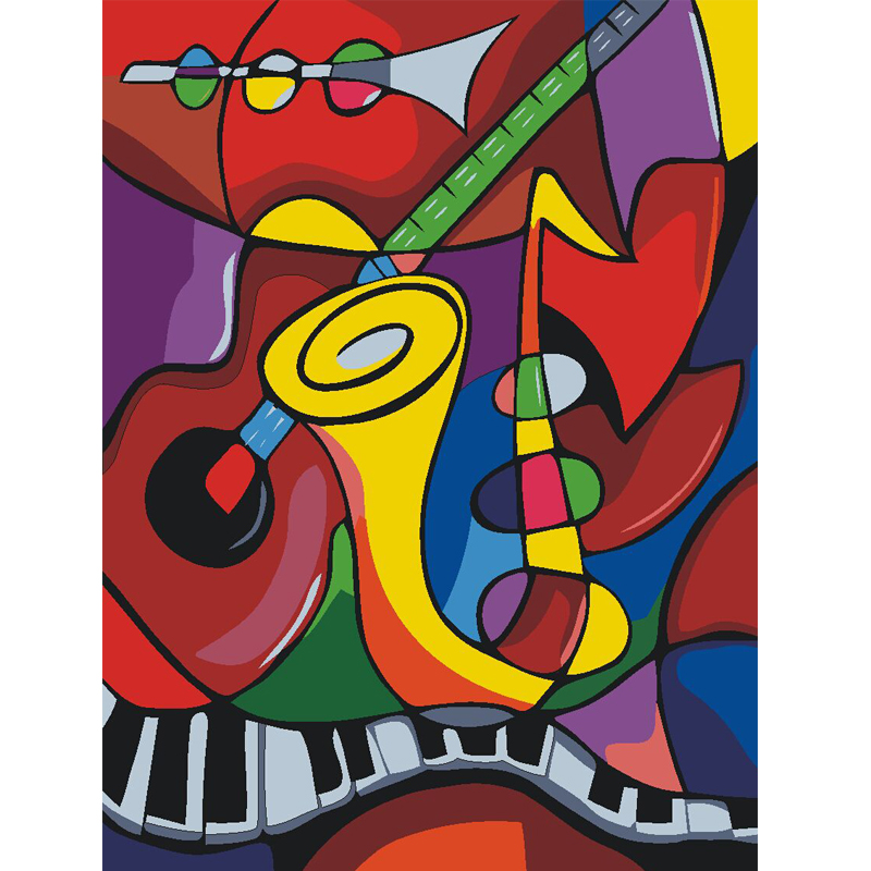 Online Buy Wholesale music oil painting from China music oil.