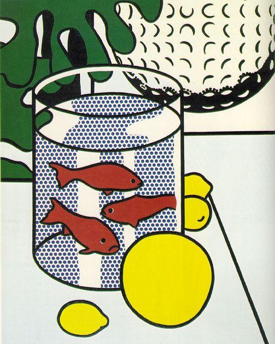 Still Life with Goldfish. 1972. Roy Lichtenstein Oil and Magna on.