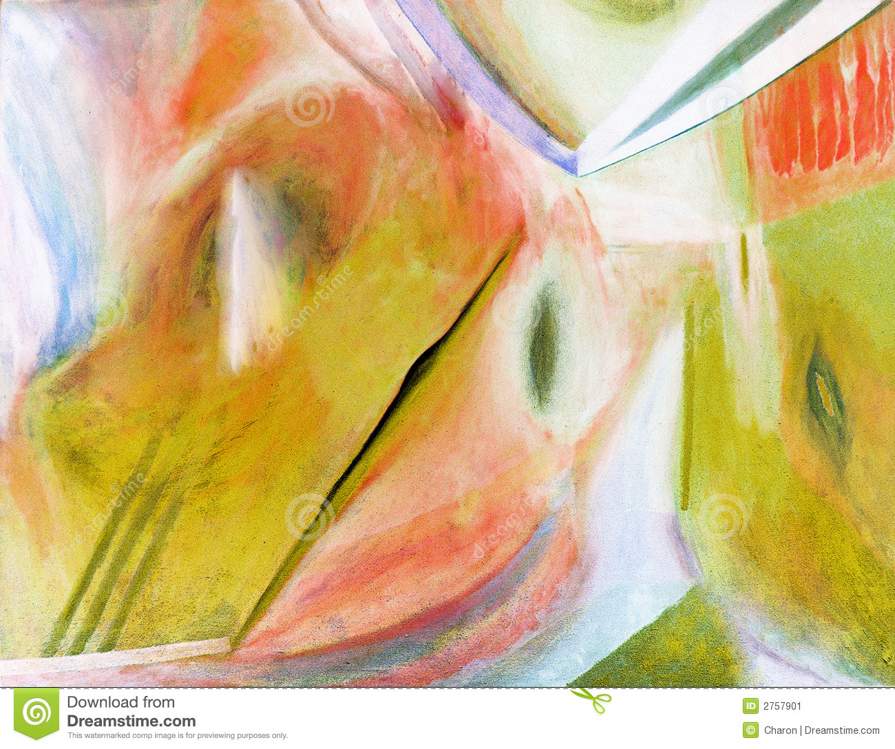 Abstract Painting Oil On Canvas Stock Image.