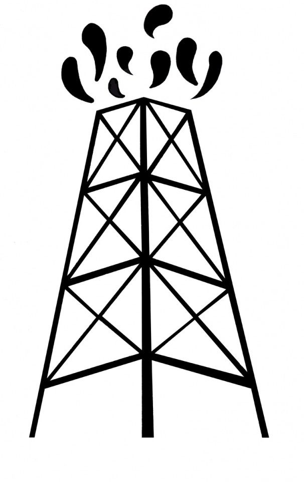 Texas Oil Fields Coloring Pages.