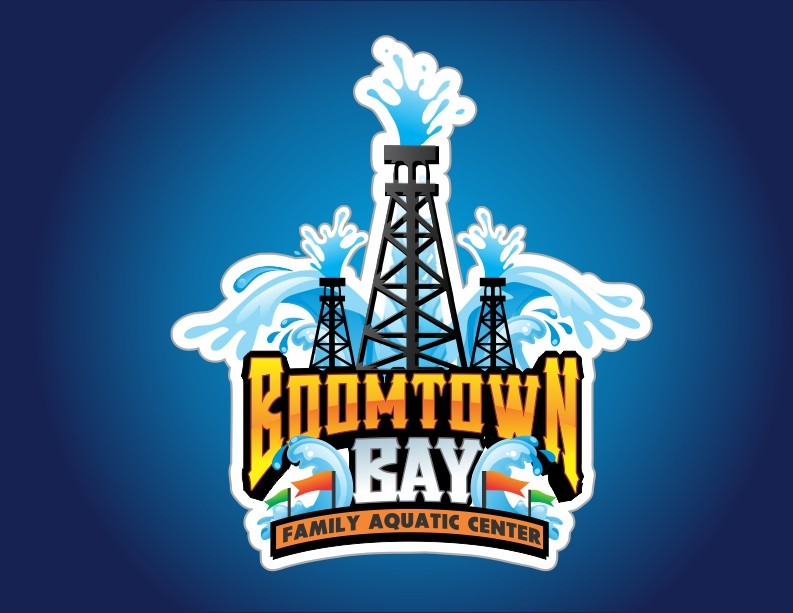 Creating a Boomtown Bay oil derrick logo for a new aquatic.