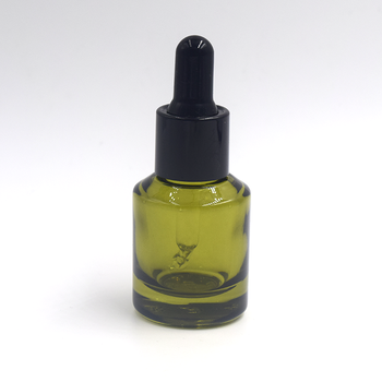 30ml Green Slant Shoulder Glass Dropper Bottle For Essential Oil Olive Oil  Bottle.
