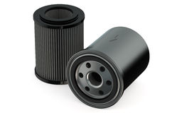 Car Oil Filters And Motor Stock Illustration.