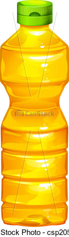 Cooking oil bottle clipart.