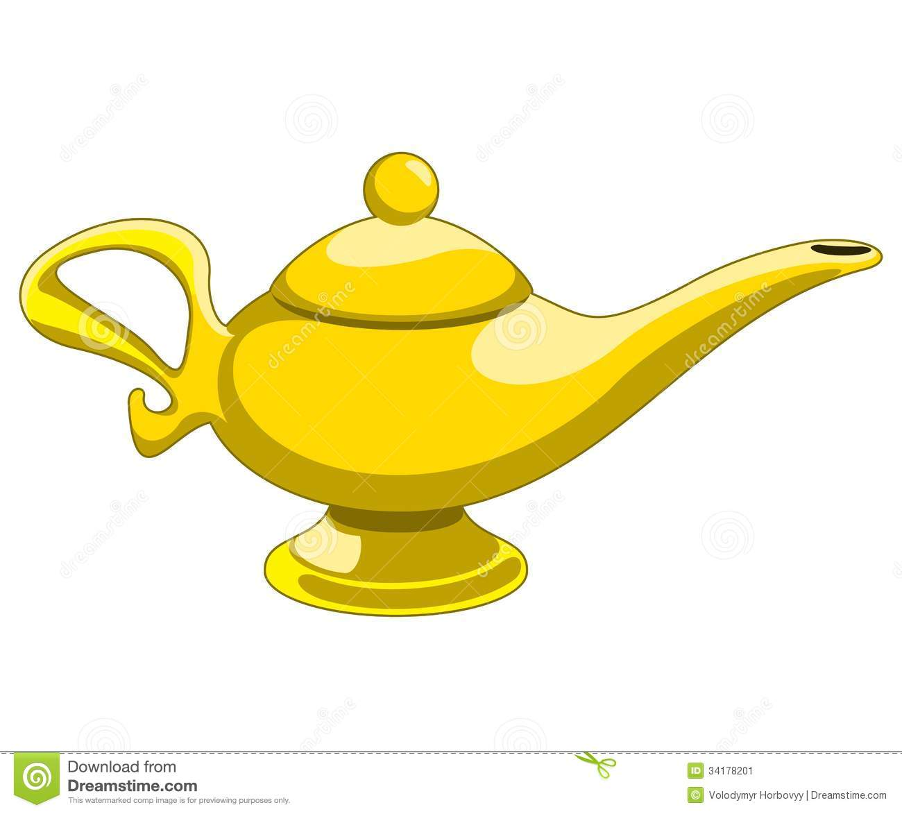 Oil Lamp And Table Digital Clipart.