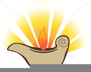 Free Clipart Oil Lamp.