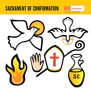 Sacrament of Confirmation Clip Arts.