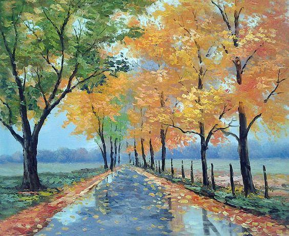 beautiful landscape oil painting on canvas modern art canvas.