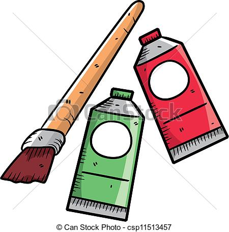 Vector Illustration of Paint tubes and oil paint. Watercolor and.