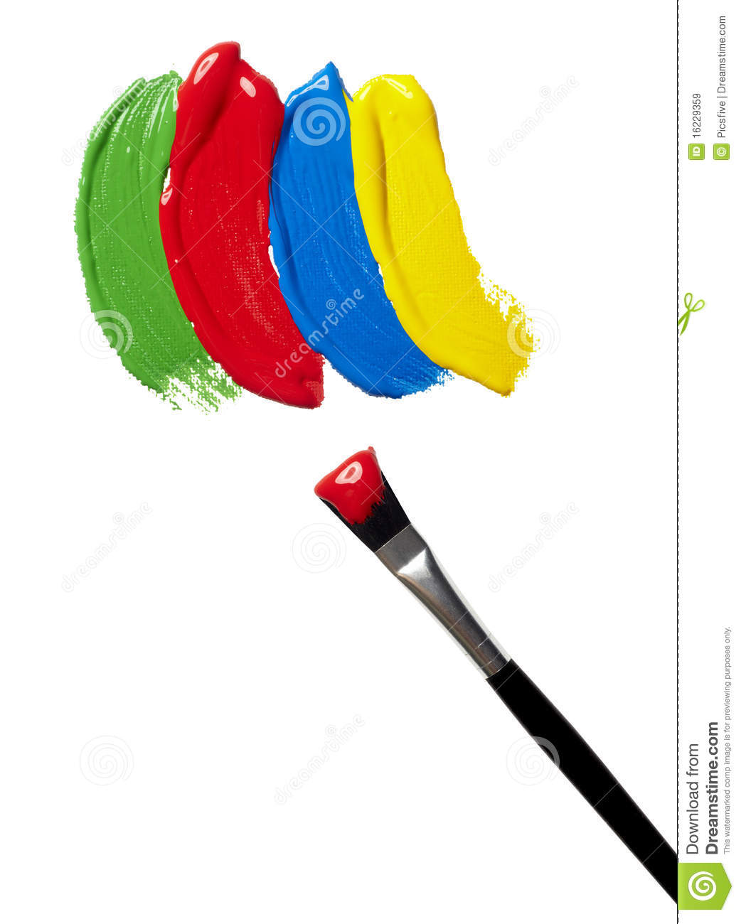 Color Strokes Oil Paint Brush Art Royalty Free Stock Images.