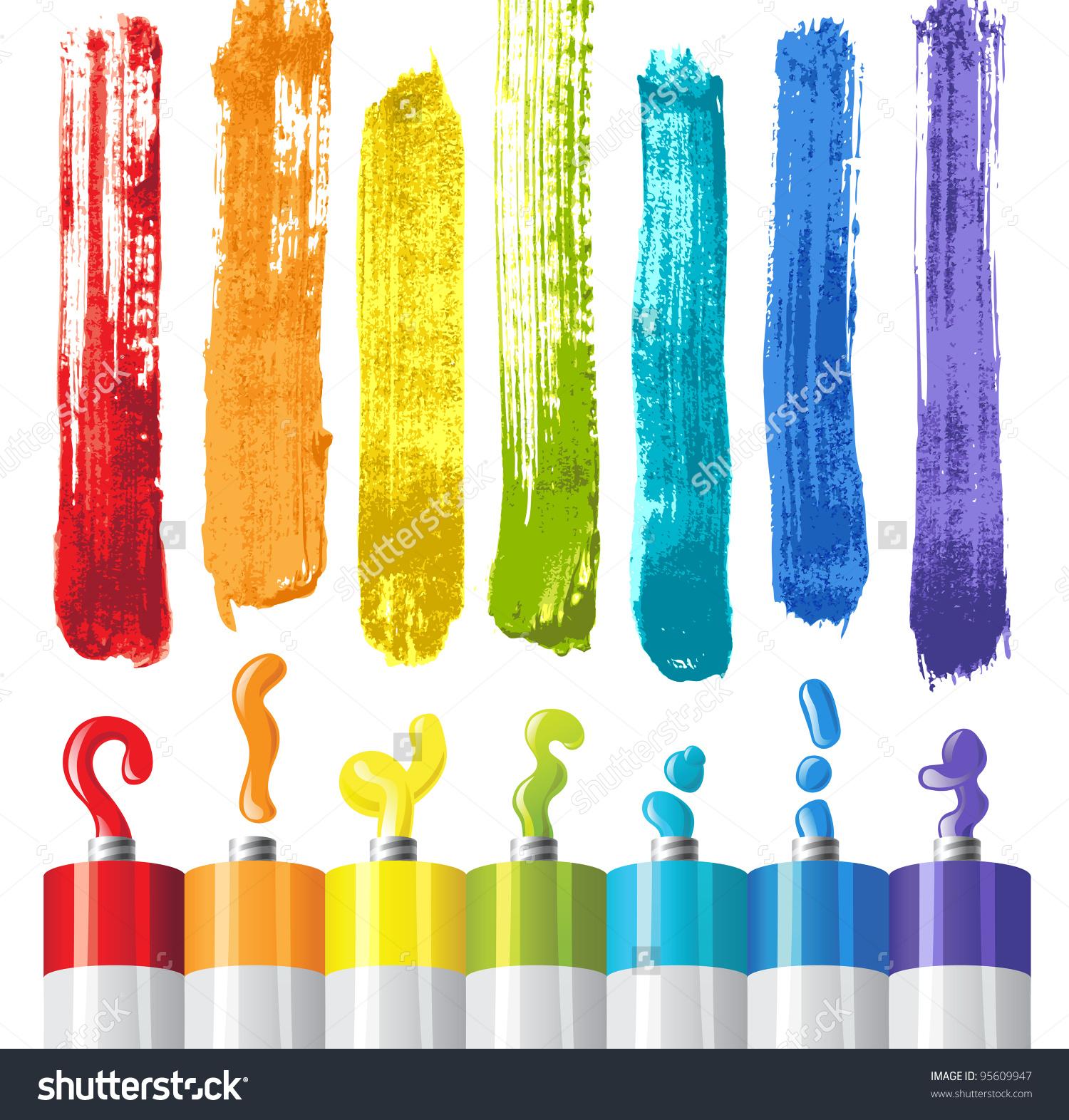 Oil Paint Clipart.
