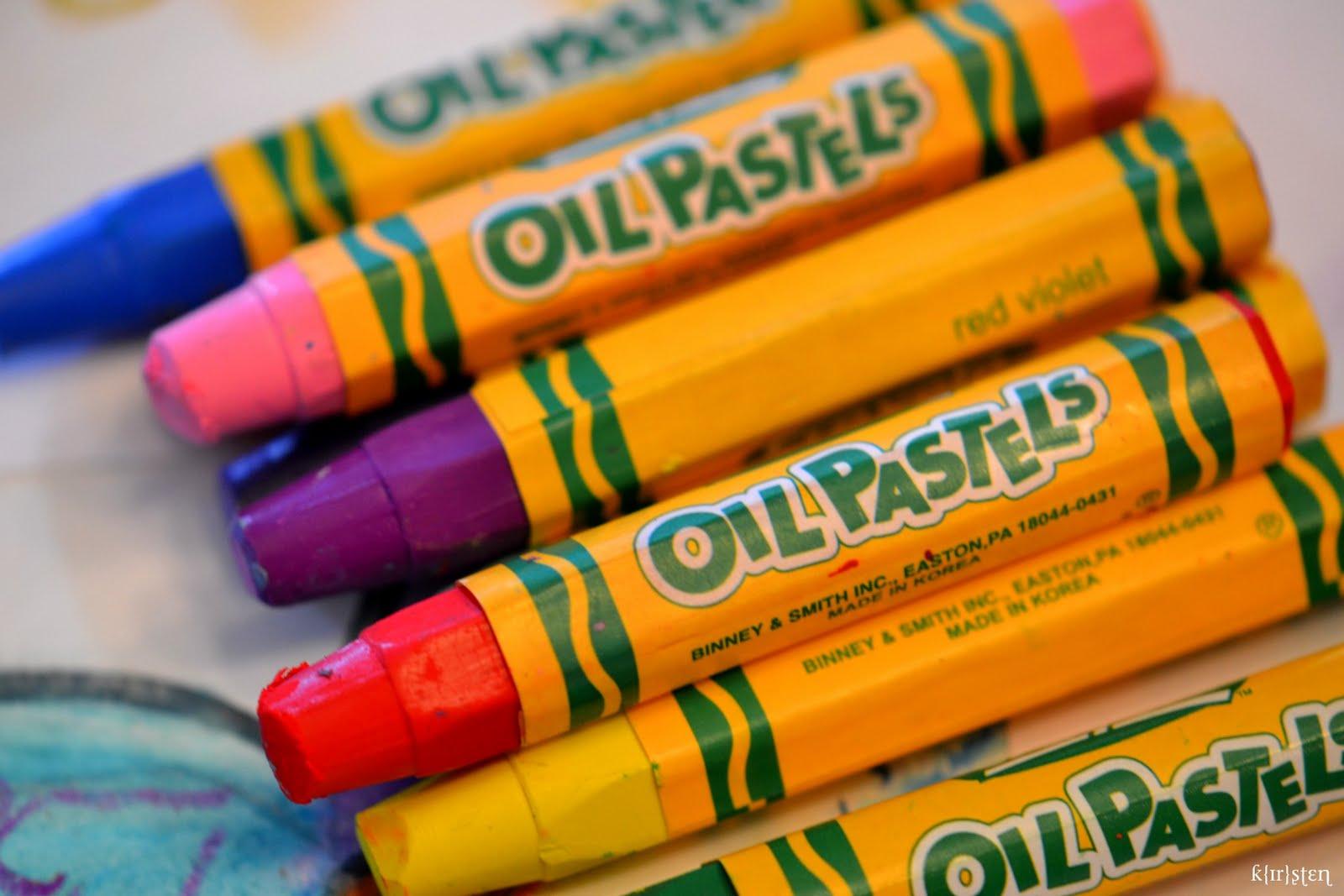 Oil pastel clipart.