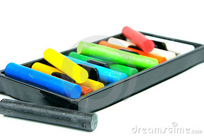 Art Supplies, Oil Pastels Stock Images.