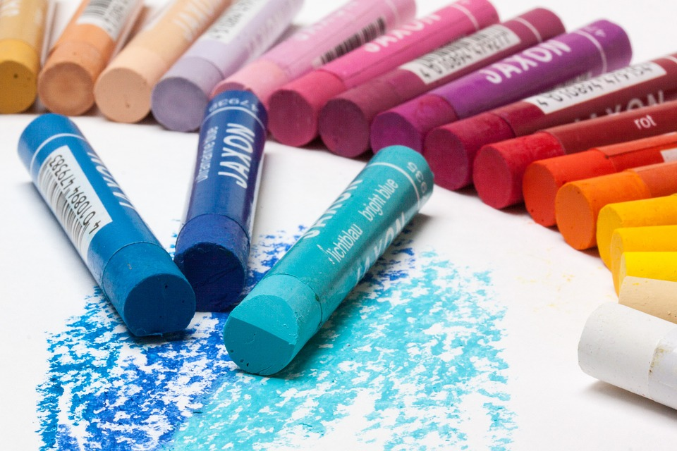 Free photo: Pastels, Oil Pastels, Colorful.