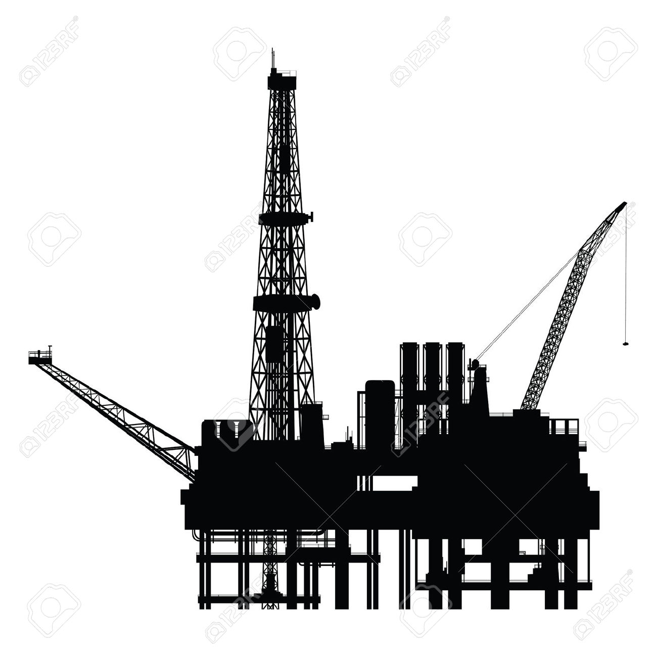 Oil rig hd clipart.