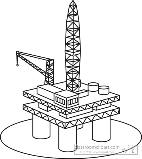Oil platform clipart.