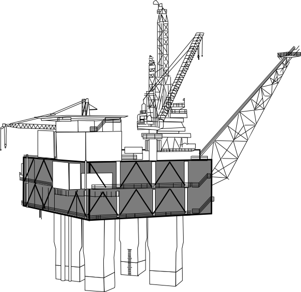 Oil Rig Black And White Clip Art at Clker.com.