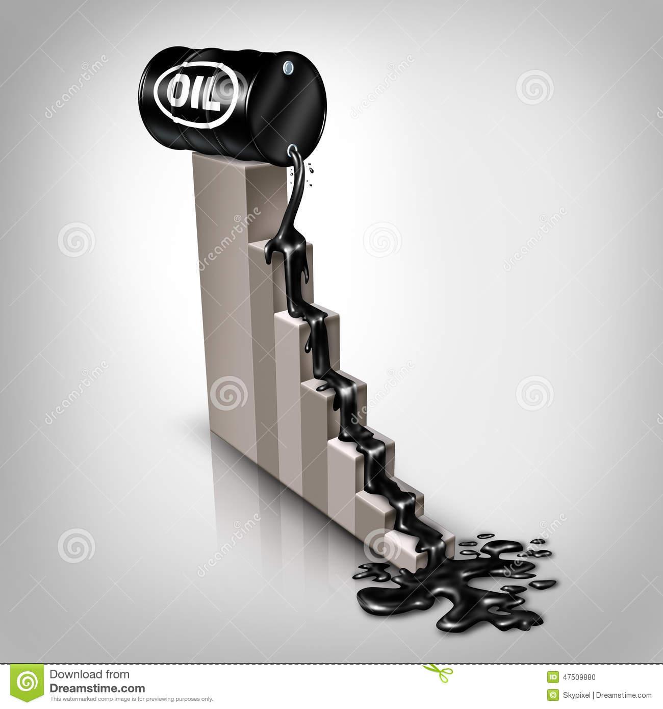 Oil Price Falling Stock Illustration.