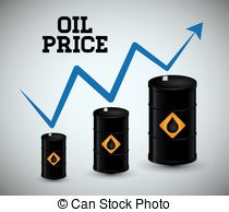 Vector Clipart of Falling Oil Price Concept.
