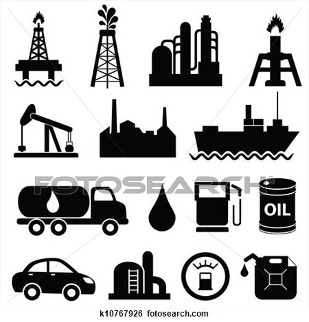 Oil Production Clipart.