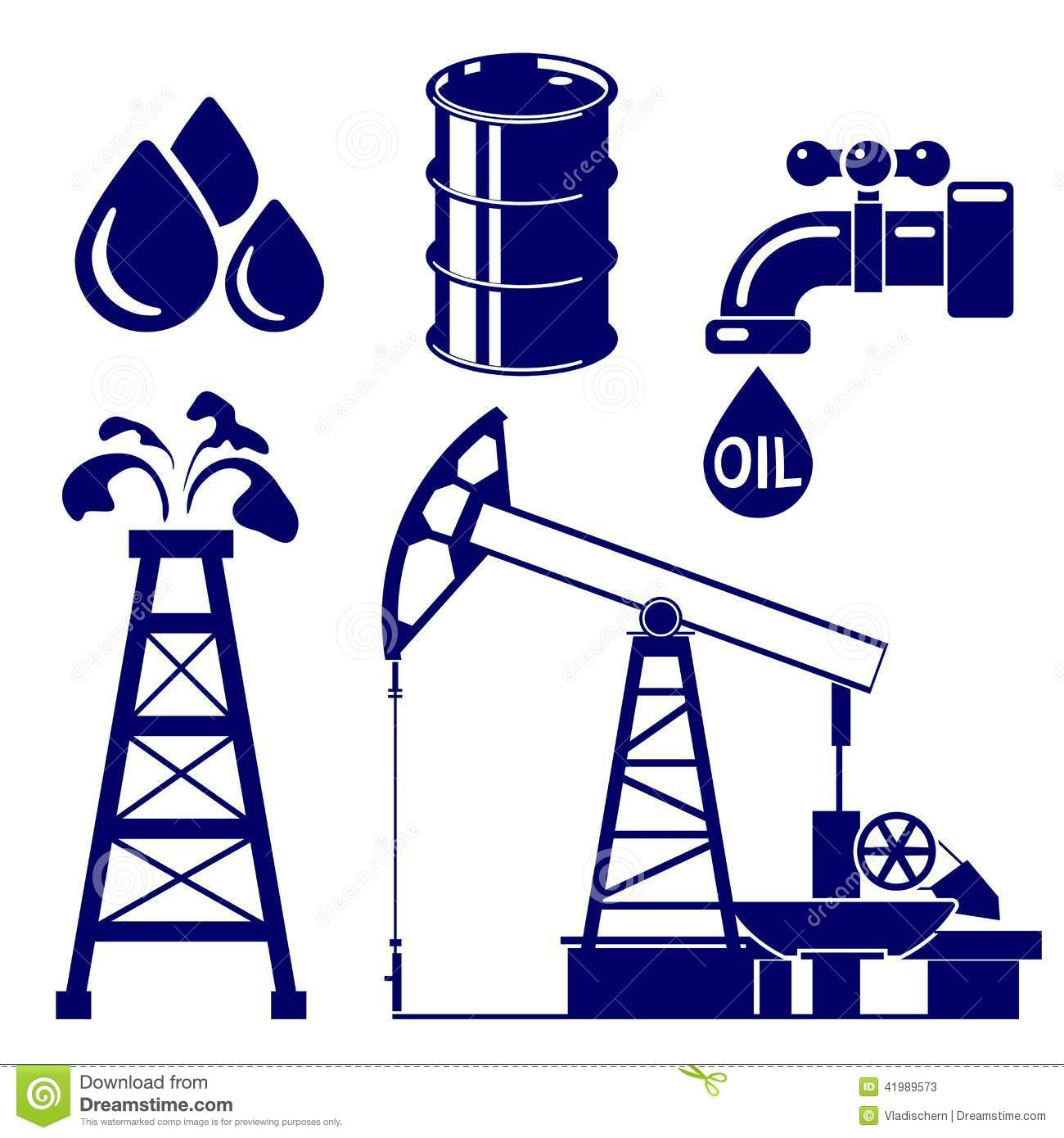 Oil exploration clipart.