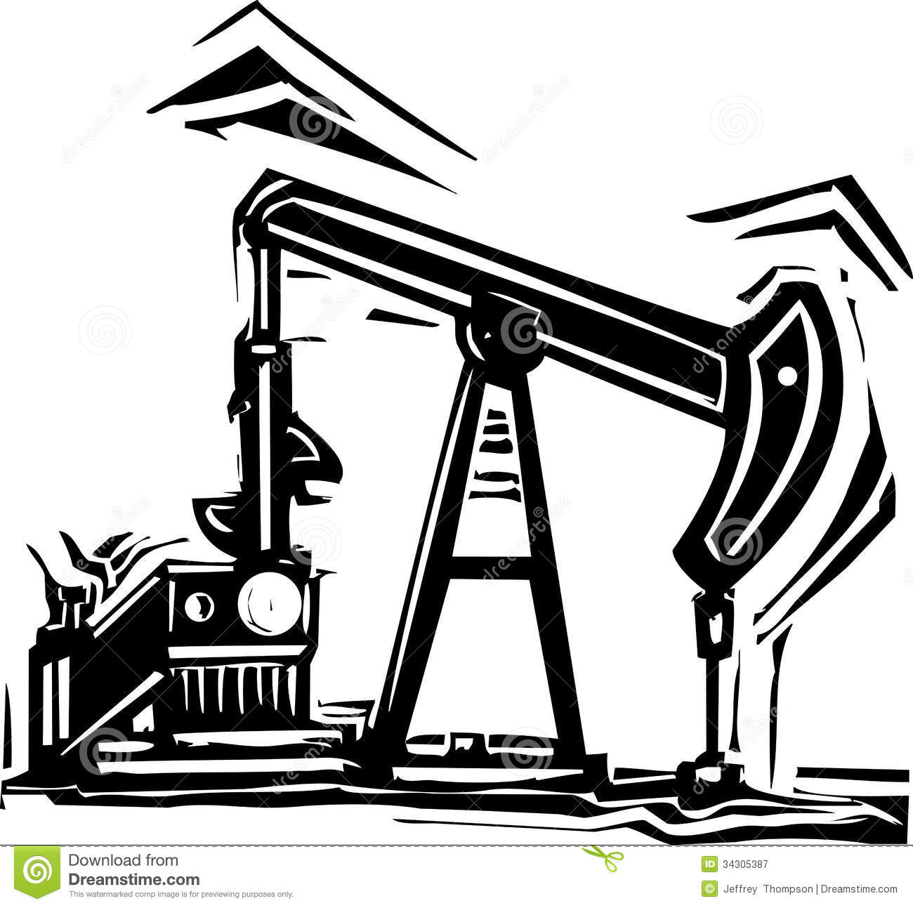 Oil industry clipart.