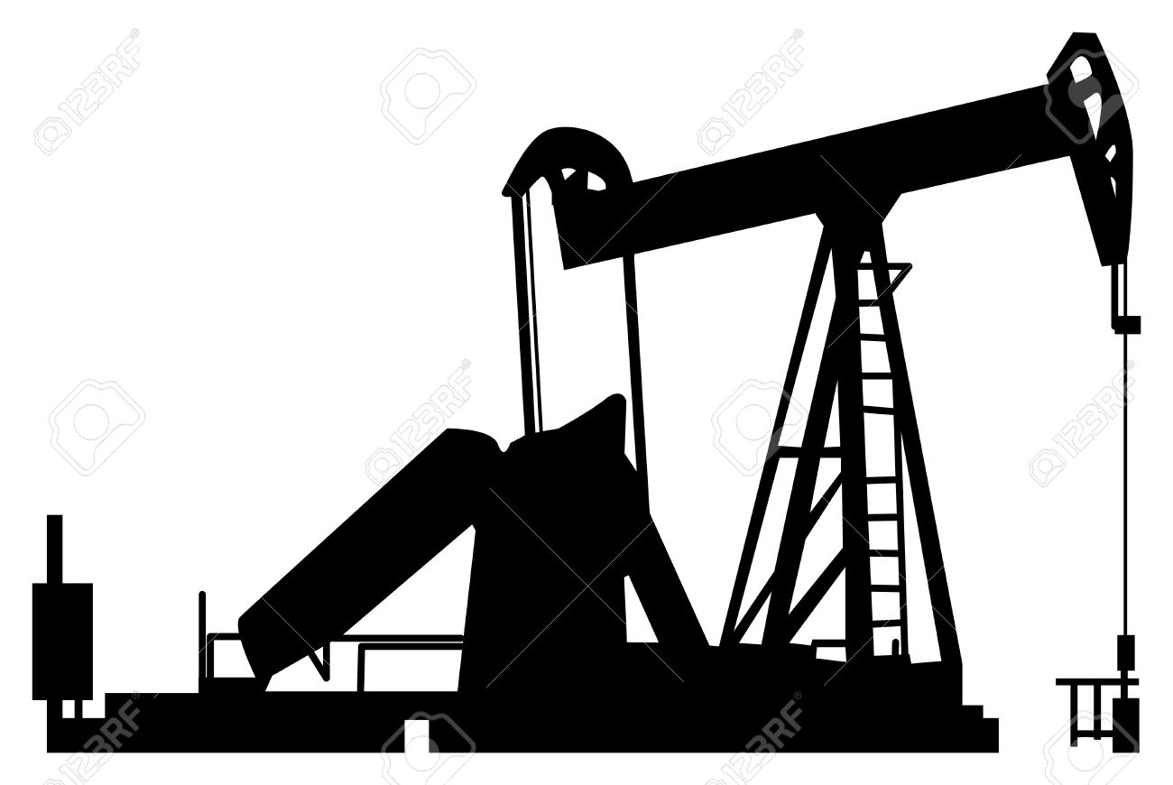 Oil Pump Silhouette Royalty Free Cliparts, Vectors, And Stock.