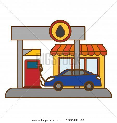 gas pump station gasoline or oil industry related icons image.