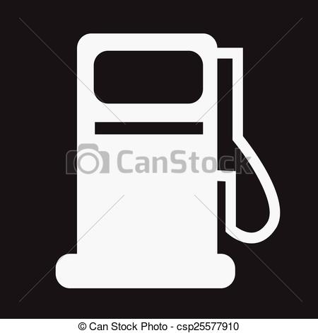 Vector Clip Art of Gas pump icon , oil station icon csp25577910.
