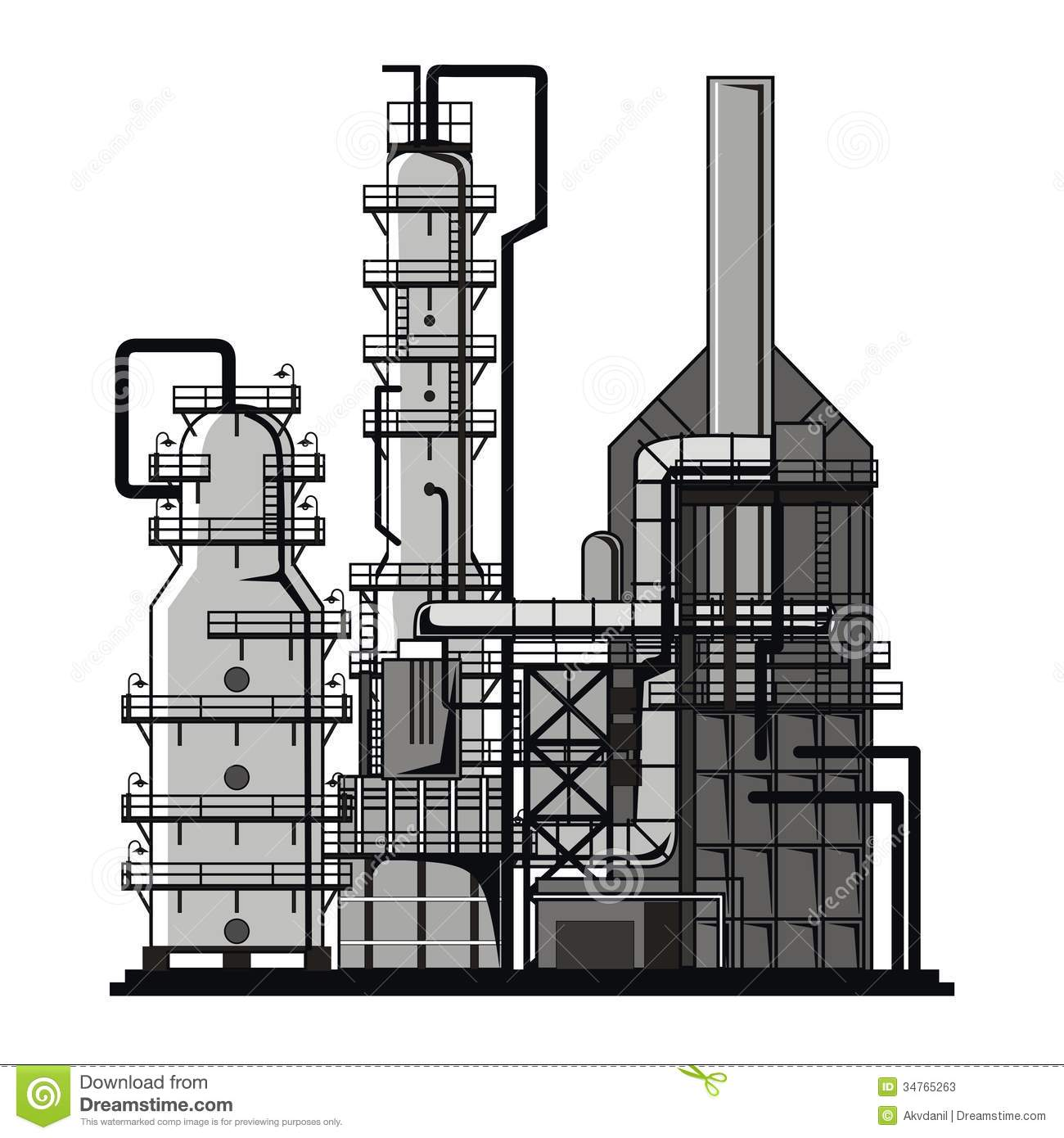 Oil refinery clipart - Clipground