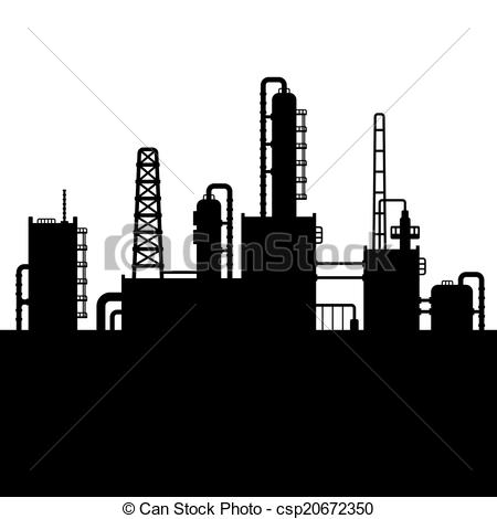 Oil refinery clipart.