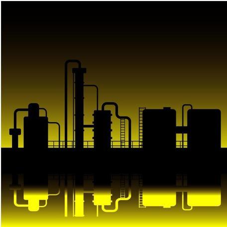 Oil Refinery Clip Art, Vector Oil Refinery.
