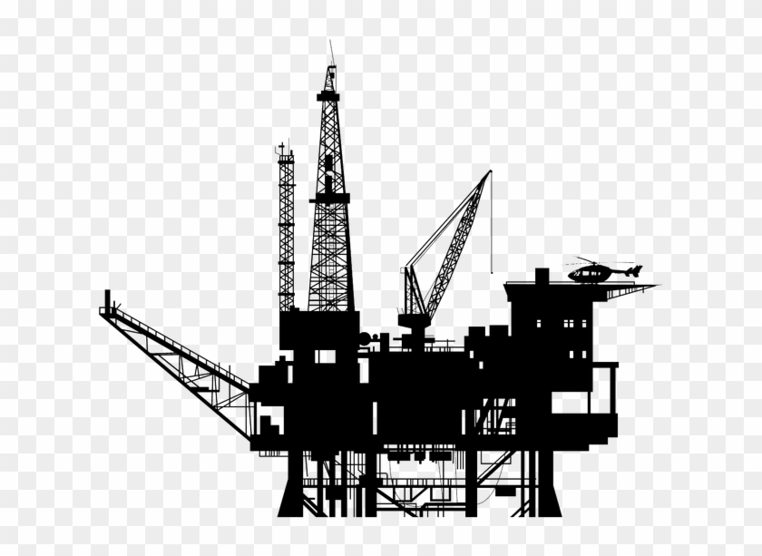 Oil Platform, Oil Rig, Oil And Gas, Technical Drawing,.