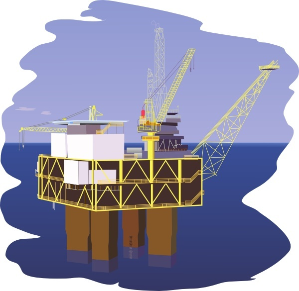Oil Rig clip art Free vector in Open office drawing svg ( .svg.