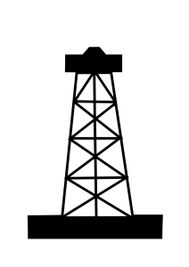 Gas rig clipart.