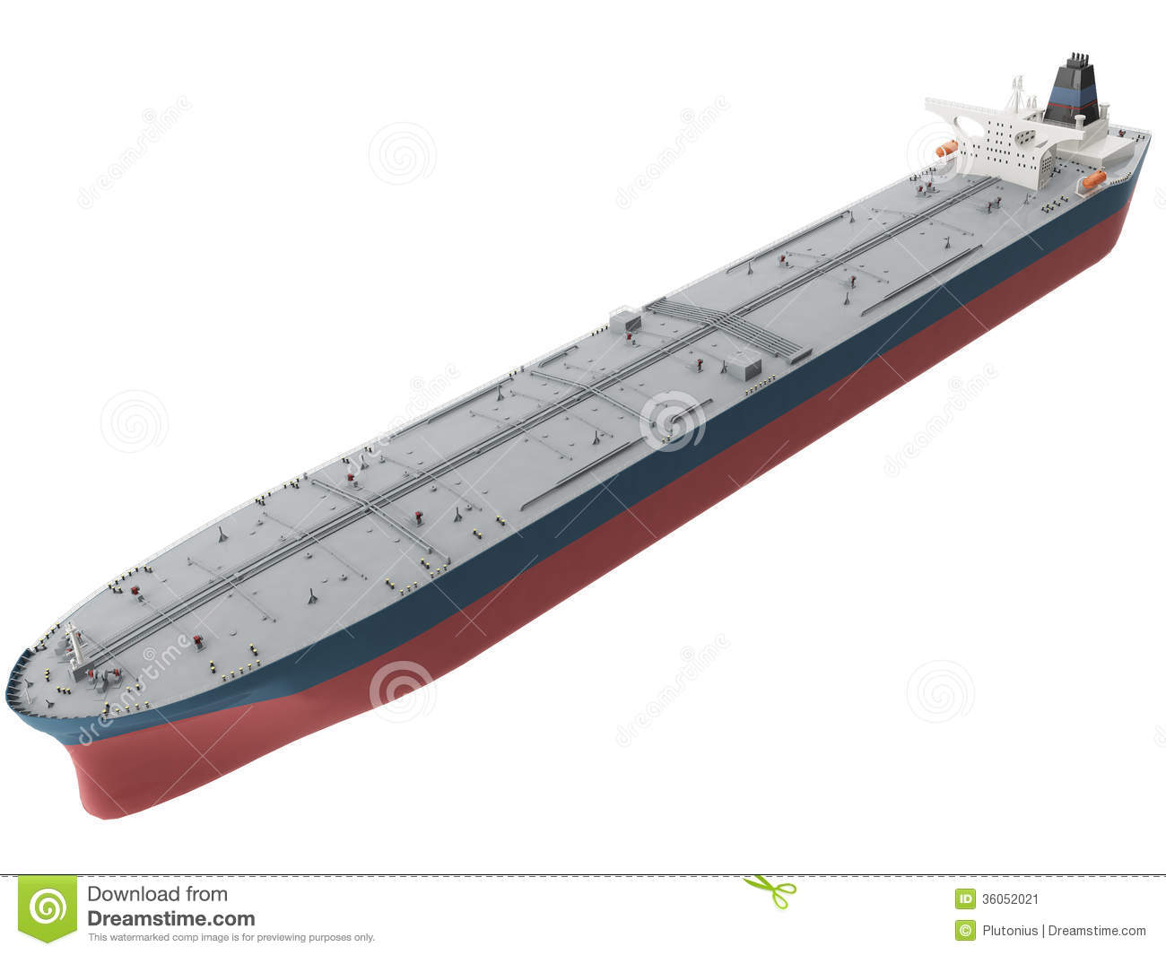 3d Oil Tanker Stock Image.