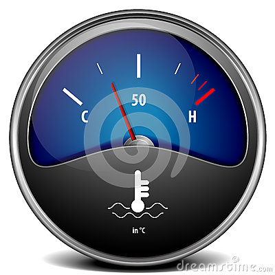 Coolant Temperature Gauge Royalty Free Stock Image.