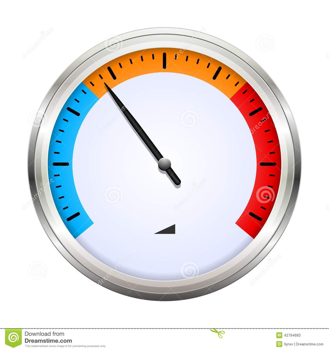 Temperature Gauge Stock Vector.