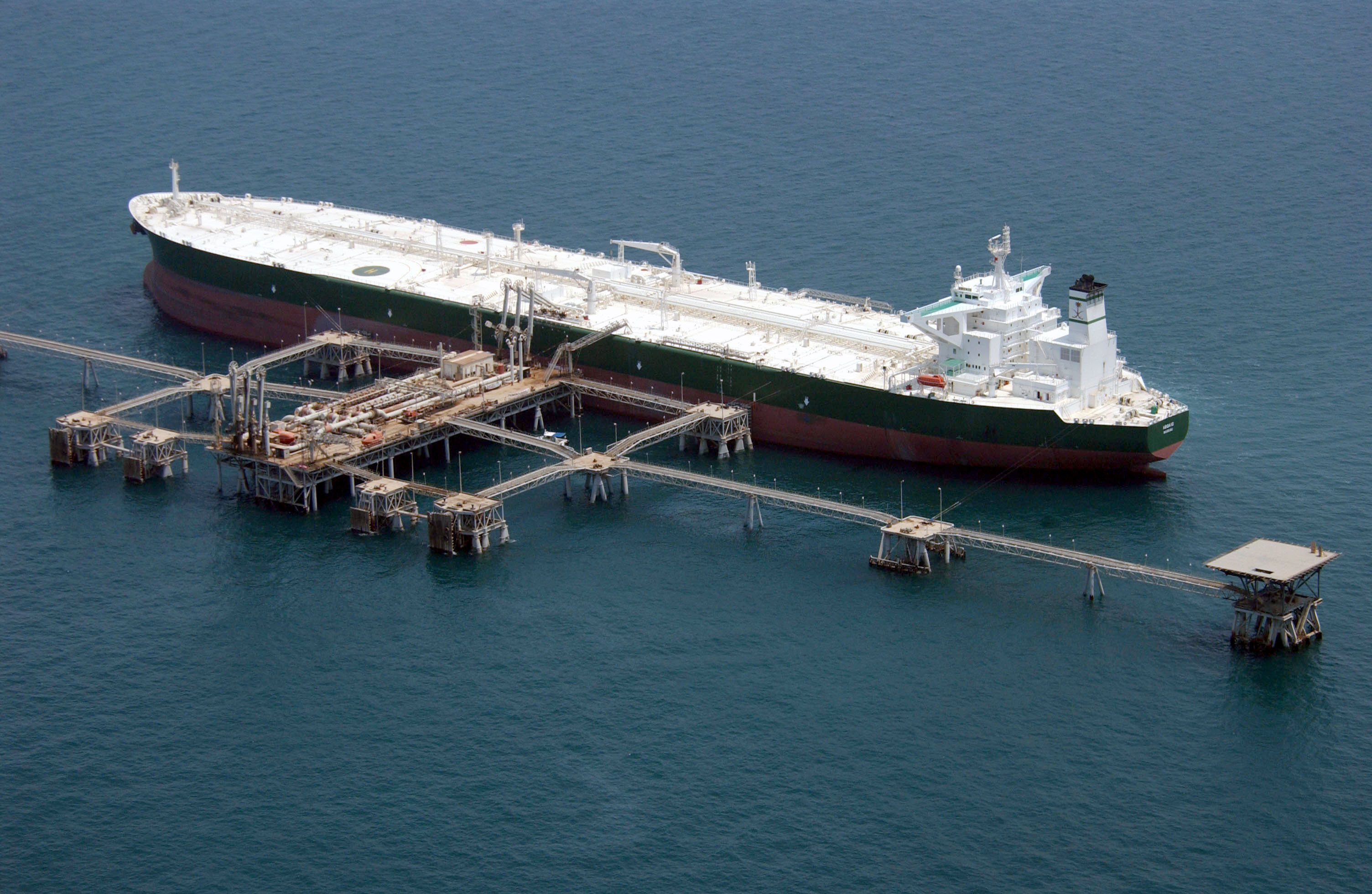 Commercial Oil Tanker Abqaiq Readies Itself To Receive Oil At Mina.