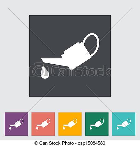 Vector of Oiler single flat icon. Vector illustration. csp15084580.
