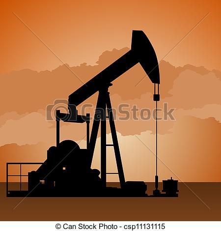 Vector Clip Art of Oil pump.