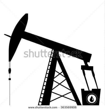 Oil Pump Jack Stock Vector 144444493.