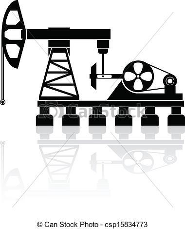 Vectors Illustration of Oil pump.