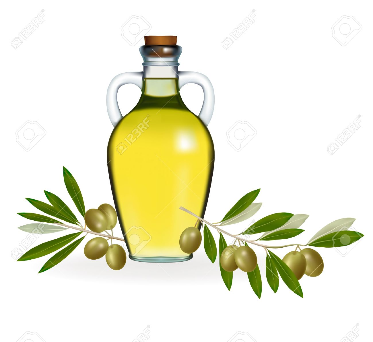 Olive Oil Clip Art.