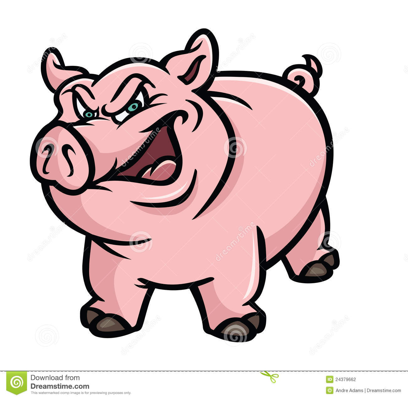 Oink Stock Illustrations.