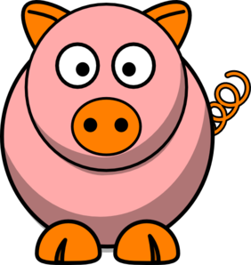 Pink Pig Clip Art at Clker.com.